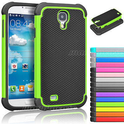 For Samsung Galaxy S4 S IV I9500 Hybrid Rugged Rubber Matte Hard Case Cover Skin - Mobile Phone Skin