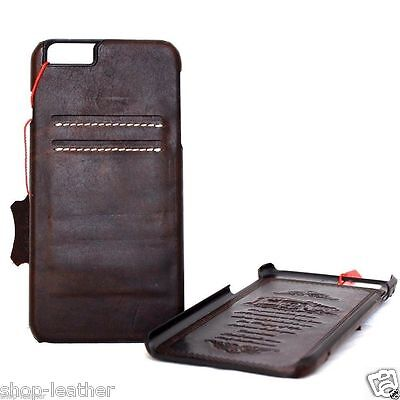genuine real leather Case for apple iphone 6  6s thin wallet cover slim Art pro