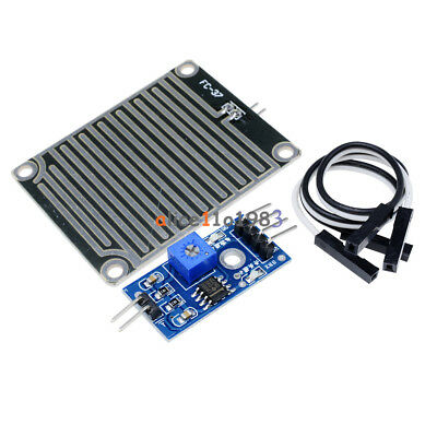 2pcs Raindrops Detection Sensor Module Rain Weather Module Humidity For Arduino