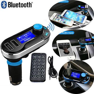 Bluetooth Auto KFZ FM Transmitter SD/MMC/USB MP3 Musik Player Freisprechanlage