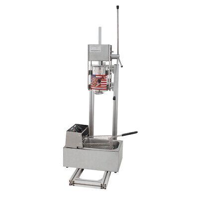 2.5kw Donut Churro Maker Machine 5 Nozzles 3l Vertical Manual Spanish 6l Fryer