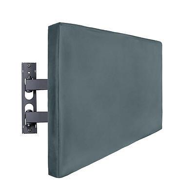 "Outdoor TV Cover Weatherproof Universal Protector 2 Storage Pockets 46""x 29""x 5"""