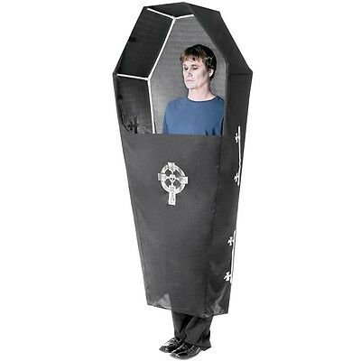 COFFIN Deluxe Adult Costume Creepy Funny Halloween Outfit Morbid - Morbid Halloween Costumes