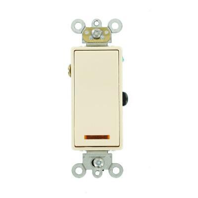 Leviton 20 Amp Decora Plus 3-Way Lighted Rocker Switch Light Almond 5633-2T ()