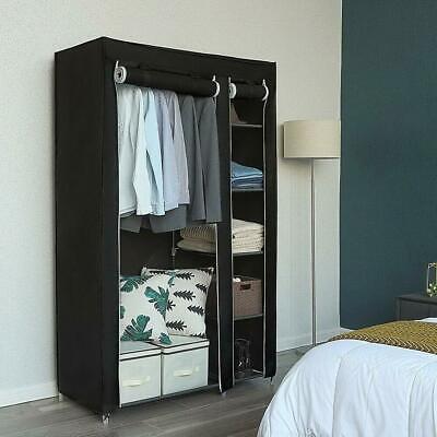 Portable Closet Storage Organizer Clothes Non-Woven Fabric