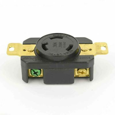 Female Twist Lock Wall Mount Electrical Receptacle 3 Wire 30 Amps Nema L6-30r