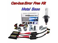ERROR FREE H7 CANBUS XENON CONVERSION HID KIT 6000K 55W METAL BASE BULBS & SLIM DIGITAL BALLAST