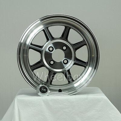 Used, 4  ROTA WHEEL SHAKOTAN 15X6 4X98 15 58.1 FULL POLISH BLACK FIAT X19 14.2 LBS for sale  Hayward