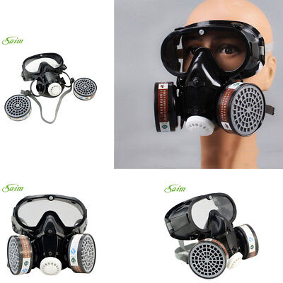 Respirator Gas Safety Mask Chemical Anti-dust Filter Military Eye Goggle Fashion