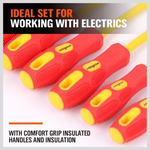 NEW 8PC ELECTRICIAN'S INSULATED MAGNETIC ELECTRICAL HAND SCREWDRIVER TOOL SET NEW