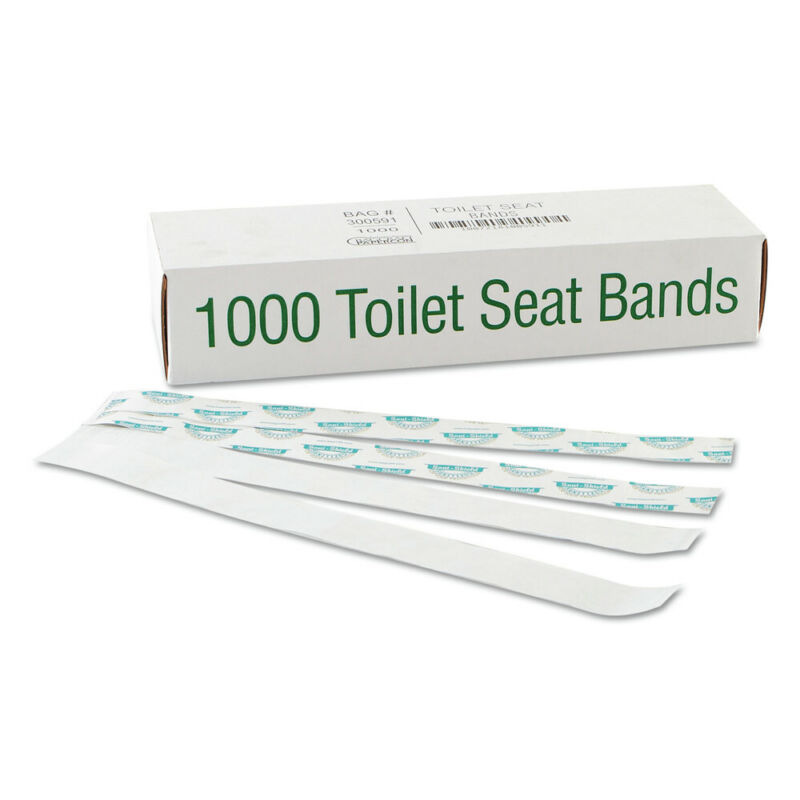 Bagcraft 300591 16 in. x 1-1/2 in. Sani/Shield Toilet Seat Band (Blue/White) New