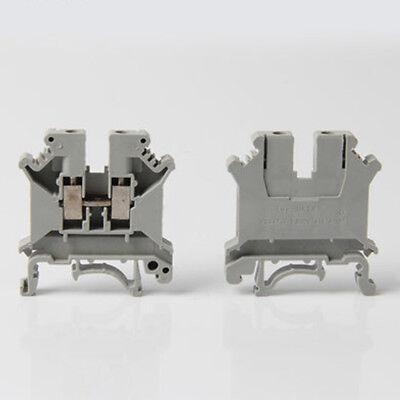 5pcs Uk2.5b 2.5mm Electrical Din Rail Screw Terminal Block Connector