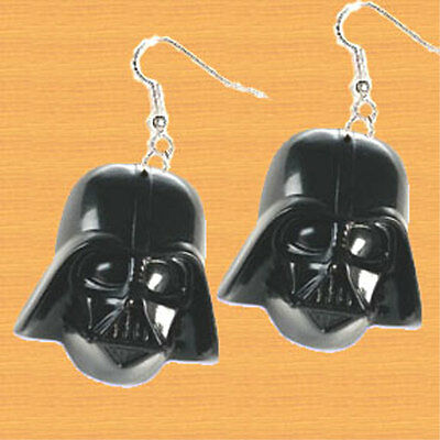 Huge Funky DARTH VADER EARRINGS Star Wars Sci-Fi Villain Force Costume Jewelry - Sci Fi Female Costumes