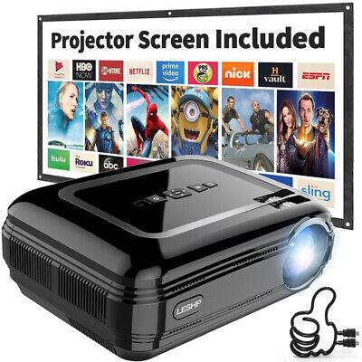 12000LM HD LED 1080P Projektor HDMI/TV/VGA/AV Heimkino Beamer Multimedia 4R