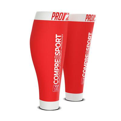 Compressport Calf R2 Pro Swiss Red Beinling Kompressionsstrümpfe Rot