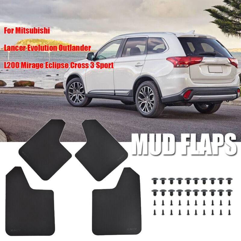 For Mitsubishi Eclipse Cross 2018 2019 Car Mud Flaps Splash Guards Mudguard Front and Rear Fender Accessories 4Pcs Set with Screw