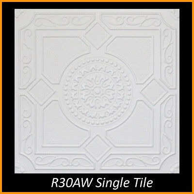 - Ceiling Tiles Styrofoam Glue Up 20x20 R30A Ultra Pure White Painted SUPER SALE