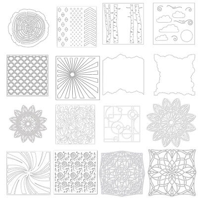 Background Plastic Spray Layering Stencils Scrapbook Album Decor Drawing Sheets