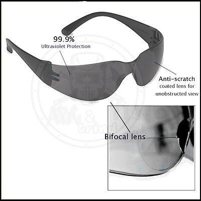 3 Pack Bifocal Safety Glasses Dark 1.5 Diopter Lens Reader Glasses-ehb20s15