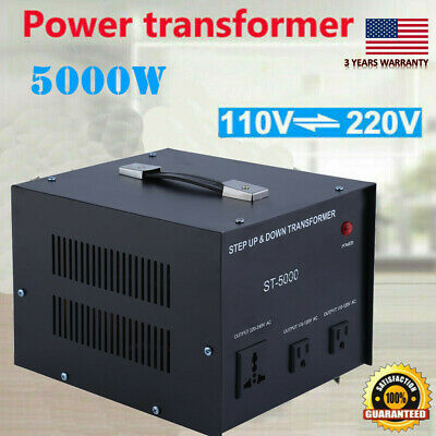 5000W Step Up Down Electric Power Voltage Converter Transformer Heavy Duty