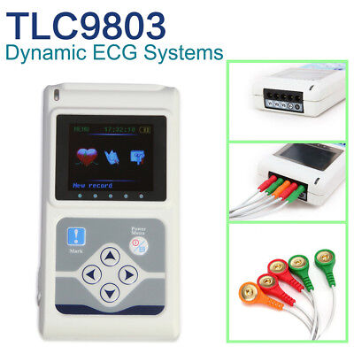 Tlc9803 Holter Ecg 3 Channel 24 Hours Records Pc Softwareusa Sale