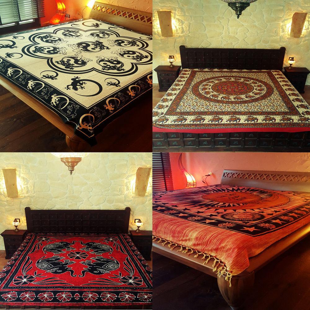 Orientalische Tagesdecke Bettüberwurf Sofaüberwurf Inischer Plaid Strandtuch XL