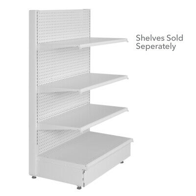 Single Sided Starter Gondola Unit 48 W X 18 D X 54 H Inches With Pegboard Back