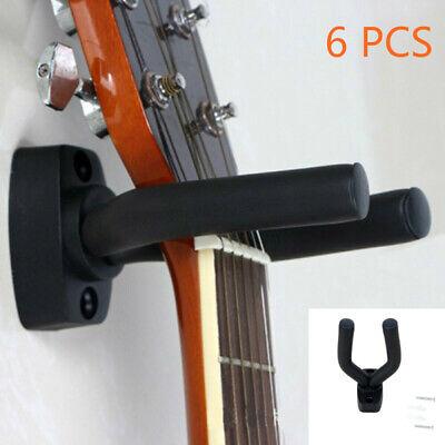 6Pcs Soporte ajustable pared para colgar Percha guitarra eléctrica bajo colgador