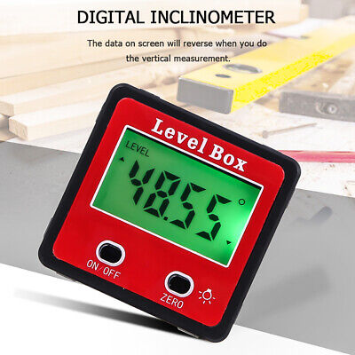 Digital Lcd Protractor Gauge Level Box Angle Finder Inclinometer Magnet-meter Us