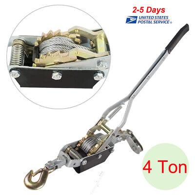 Best 4ton Come Along Hoist Ratcheting Cable Winch Puller Crane Comealong Usa