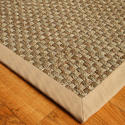 NaturalAreaRugs Hand-Crafted Lancaster Seagrass Rug, Sage Khaki (5' x 8')