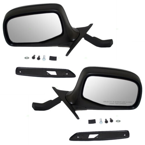 Driver and Passenger Power Side View Mirrors Paddle Type Ready-to-Paint Replacement for 1992-1996 F150 Pickup Truck F5TZ17683E F5TZ17682E
