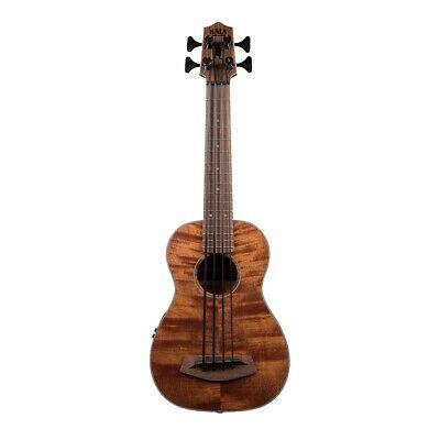 Used, Kala Exotic Mahogany Acoustic-Electric U-Bass Ukulele Bass Fretted w/ Gig Bag for sale  National City
