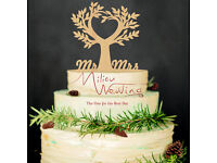 Wood Tree Wedding, Anniversary Topper, Wedding Cake Decoration