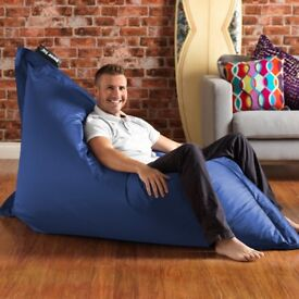 Indoor And Outdoor Giant Blue Bean bag