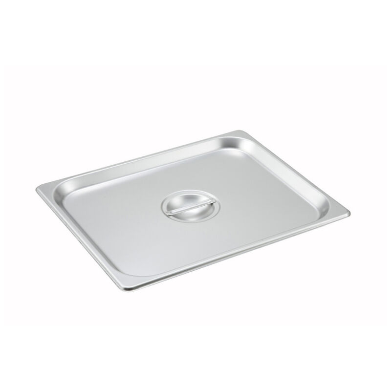 Winco SPSCH, Half-Size Solid Stainless Steel Steam Table Pan Cover, NSF
