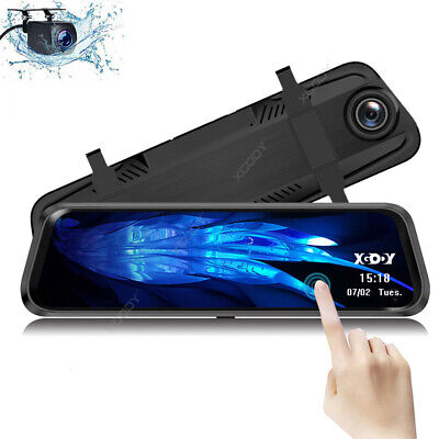 XGODY 64GB + 10'' FHD 1080P Car DVR Front & Rearview Camera