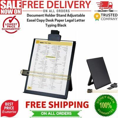 Document Holder Stand Adjustable Easel Copy Desk Paper Legal Letter Typing Black