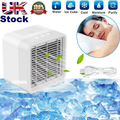 UK Mini Air Cooler Fan Portable Conditioner Humidifier Purifier USB Cooling Home