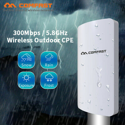 Wifi Access Point Bridge (COMFAST Wireless WiFi Bridge Outdoor 300Mbps Point Access Signal Router Extender)