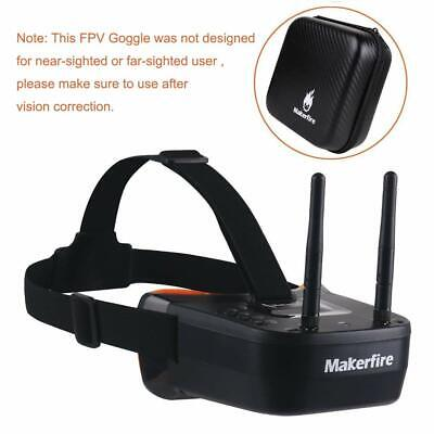 5.8Ghz Mini FPV Goggles 3 inch 40CH FPV Video Headset Glasses with Double RP-SMA