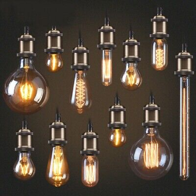 E27 40W Vintage Industrial Filament Light Bulb Lamps Squirrel Cage Edison Bulbs