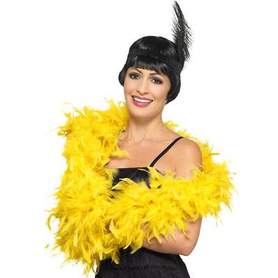 20 S Deluxe Gelb Federboa 80g Flapper Kostüm Kostüm Smiffys 45195