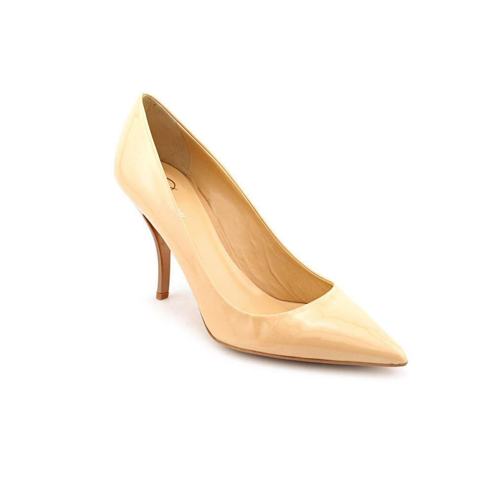 56866ca8bd Delman Brisa Nude Patent Womens DESIGNER Shoes HEELS Pointed Classic ...