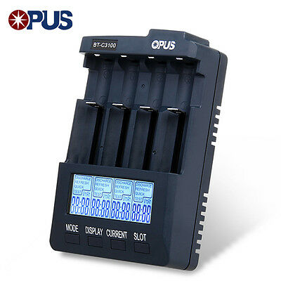 Opus BT-C3100 V2.2 Smart Battery Charger for Li-ion NiCd NiMh Batteries US PLUG