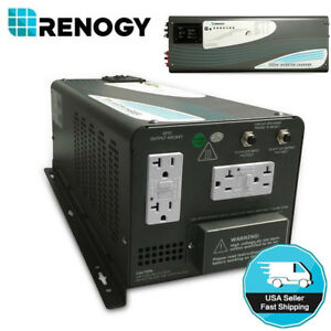 Renogy 3000 Pure Sine Wave Inverter with Charger 3KW DC AC Solar Power Converter