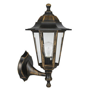 Victorian style brushed bronze black outdoor garden wall light lamp lanterns new ebay for Victorian style exterior lighting