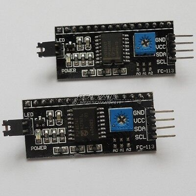 2Pcs I2C/IIC/TWI Serial Interface Board Module for Arduino LCD 1602 US SHIP N50
