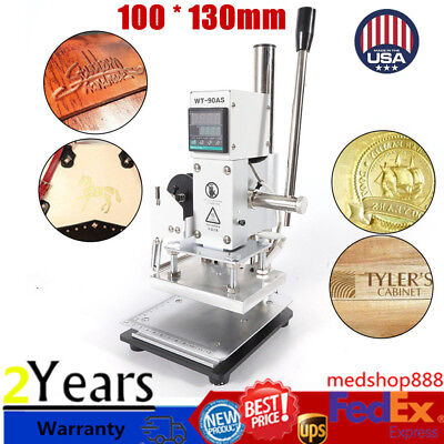 Digital Manual Stamping Machine 10 13cm Plastic Leather Bronzing Hot Foil Sale