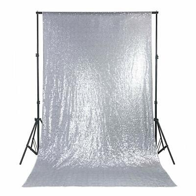 5x7ft Silver Backdrop Halloween Photo Booth Sequin Backdrop Photo Background - Photo Booth Halloween Background